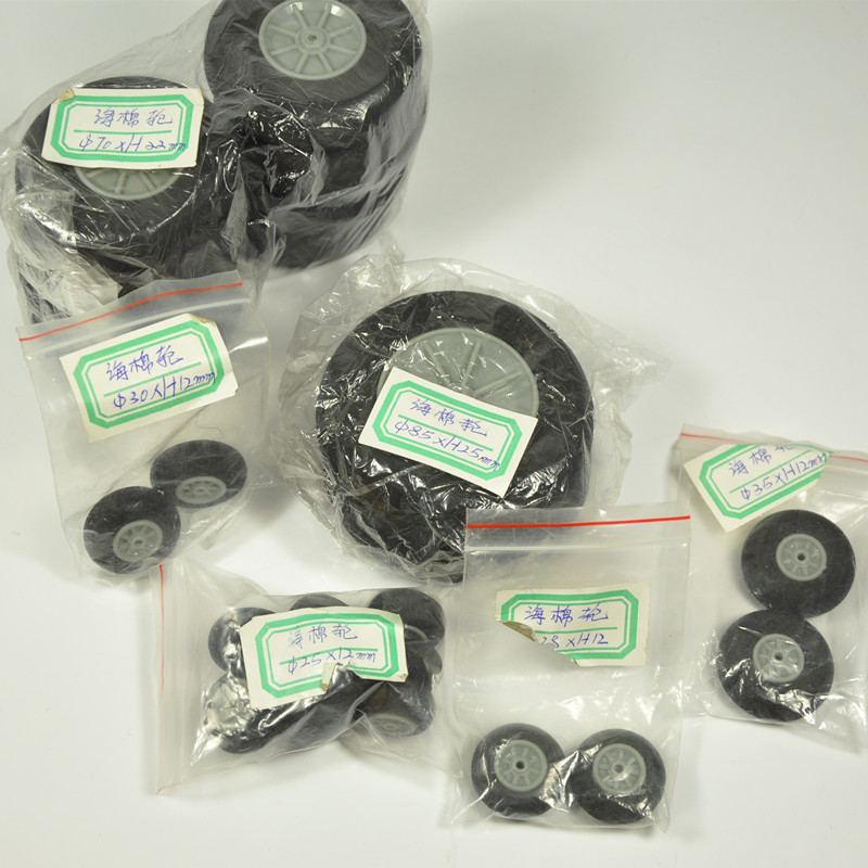 1 paar RC lennuki osa Super Light Sponge wheel 40 * 19mm 49 * 19 50 * 19 55 * 19 60 * 19 60 * 24 65 * 24 70 * 24 75 * 24 80 * 24 mm