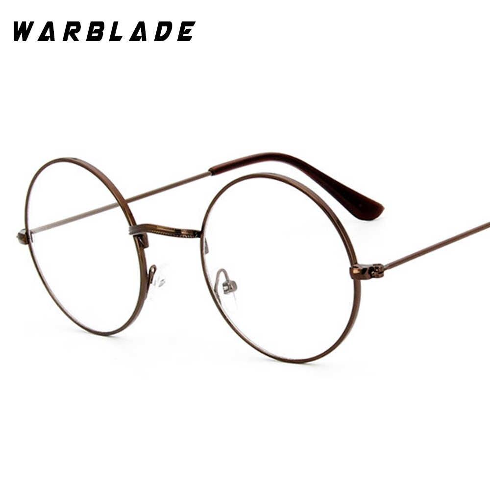 68ed5301e2 ... Round Clear Glasses Spectacles Retro Optical Eye Glasses Frames For Women  Transparent Eyeglasses Eyewear Frame Fake ...