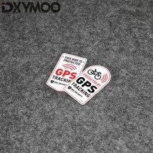 Adesivo de bicicleta protegido por gps, decalque de aviso para estilização de veículos e gps