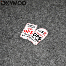 Motorcycle Sticker BIKE Protected By GPS TRACKER Alarm Warning Car Styling Decal 7x4cm
