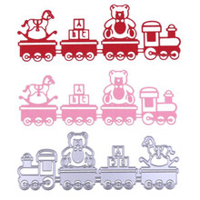 YLCD1594 Train Metal Cutting Dies For Scrapbooking Stencils DIY Album Cards Decoration Embossing Folder Craft Die Cuts Tools New(China)