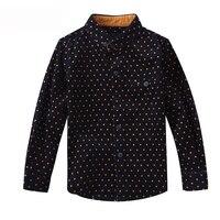 Kinder Kleidung Baby Dot langhülse Marke Kid Bluse Schule T-shirts für Jungen Umlegekragen Mode Baumwolle Outwear