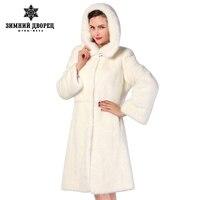 Белый норки, Меха Полосы Шили Toghter, мода натуральный мех пальто, Пальто из меха, норки пальто женщины, норковая шуба, бесплатная доставка