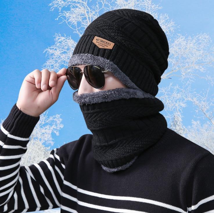 2018 رجل إمرأة قبعة وشاح المرجان الصوف قبعات للرجل المرأة القطن الربيع الخريف الشتاء بيني الكبار التصوير الدعائم عيد الميلاد