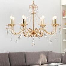 gold crystal led modern chandelier lighting for kitchen dining room bedroom bedside light luxury k9 pendant lamps цена 2017