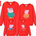 2017 spring  Autumn Collar sweater Hoodies Family Matching Outfits mother son  father  plus size 4XL
