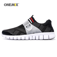 ONEMIX New Man Running Shoes Men Breathable Athletic Trainers Black Zapatillas Sports Shoe Outdoor Walking Sneakers Free Ship