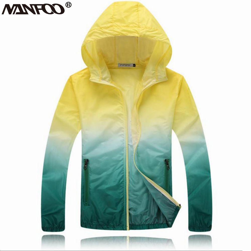4-color available unisex lightweight outdoor climbing hiking gradient jacket windproof UV-resistant skin clothing Куртка
