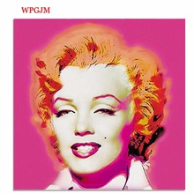 Marilyn Monroe figure oili painting canvas hang painted decoration wall art poster Free shipping