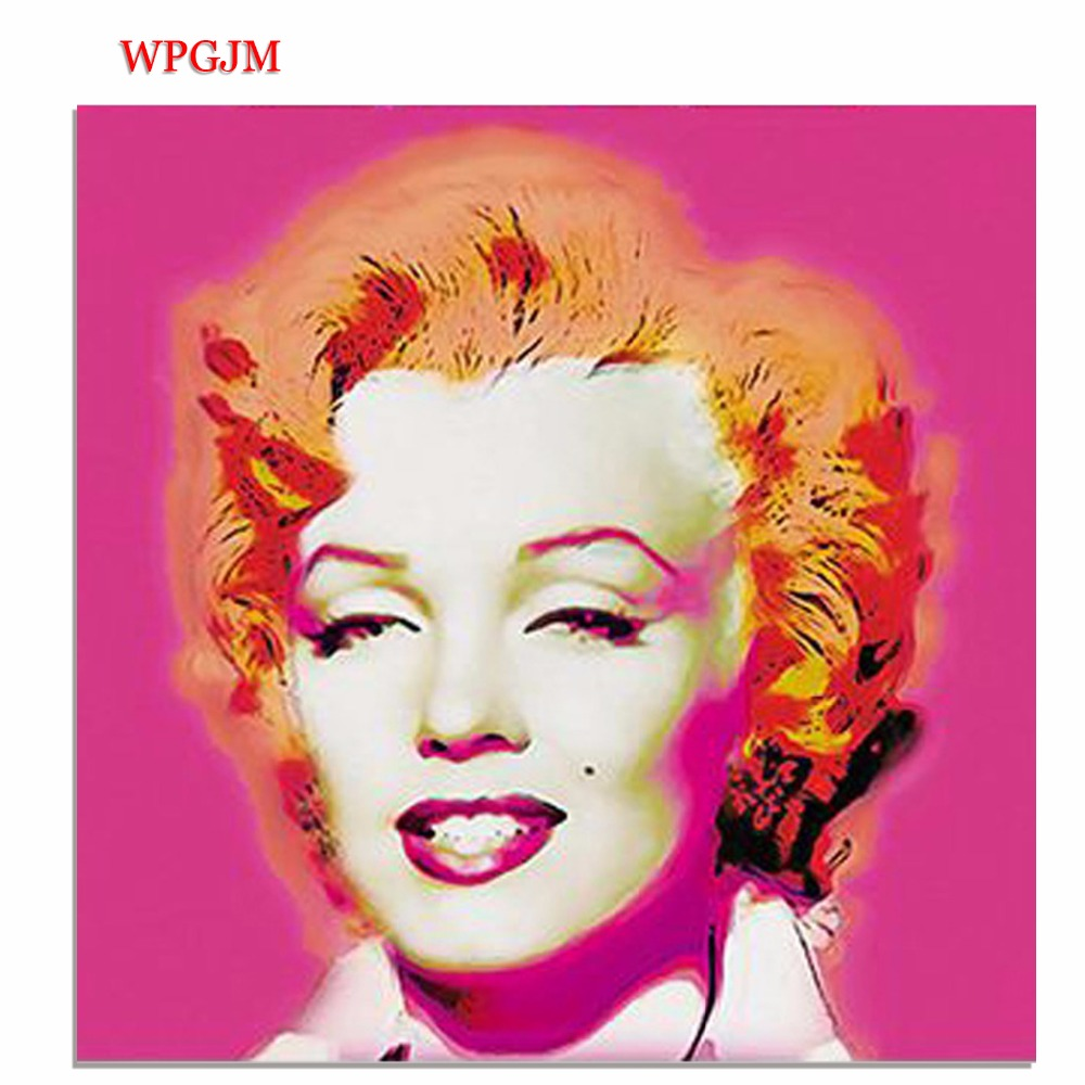 Marilyn Monroe figure oili painting canvas hang painted decoration wall art poster canvas art Free shipping
