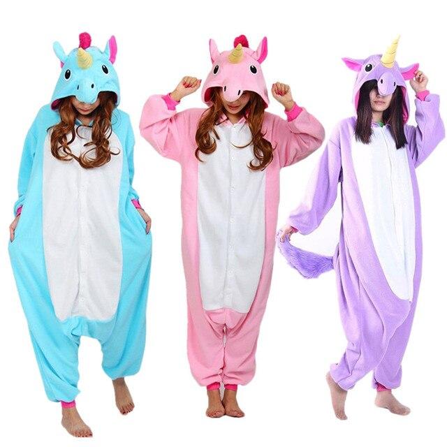 917458807d1004 € 16.88 |Nuevo Animal Cosplay traje adulto azul rosa púrpura unicornio  Onesies pijamas pijamas pijamas My little pony chándal Unisex en Disfraces  ...