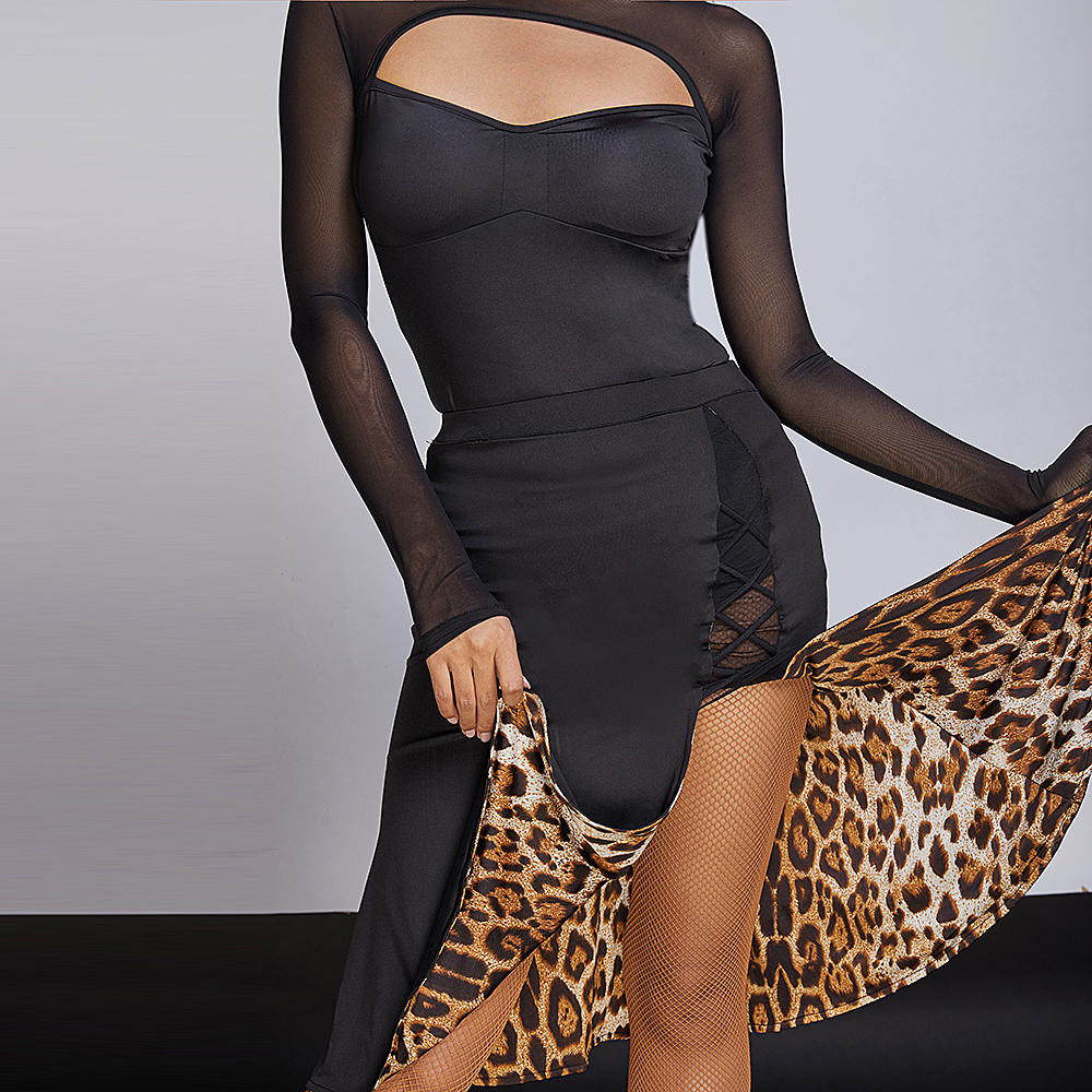 ZYMdancestyle Baya Double-sided Latin Dance Practice Skirt #8034