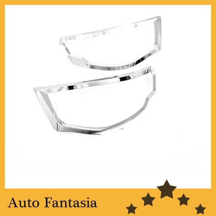Auto Chrome Parts Chrome Head Light Cover for Mitsubishi L200 Triton-Free Shipping high quality chrome tail light cover for mitsubishi l200 triton free shipping