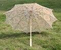 Free shipping New Vintage Lace Umbrella Handmade Cotton Embroidery Battenburg Ivory Lace Parasol Umbrella Wedding Decor