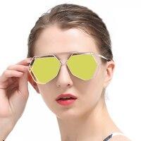 Hexagon Sunglasses Womens Sunglasses Brand Designer Mirrored Sunglasses Women Sun Glasses For Men Polarized Shades For