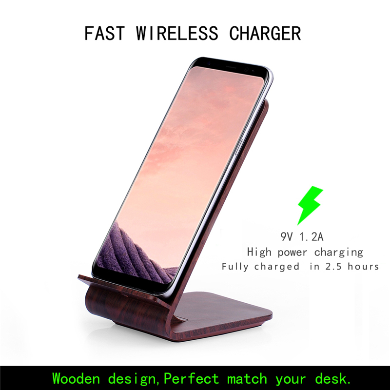 A8 Wood grain 10w quick Wireless charging transmitter charger for Samsung S6,S6 edge,S6 edge plus, Note5, S7, S7 edge