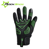 Rockbros Men Cycling Riding Anti Shock Thermal Guantes MTB Road Bike Bicycle Winter Full Finger Windproof
