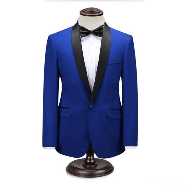 selezione straordinaria miglior servizio sfumature di Rosso e blu abiti da uomo giacca collo a scialle formale giacca e ...