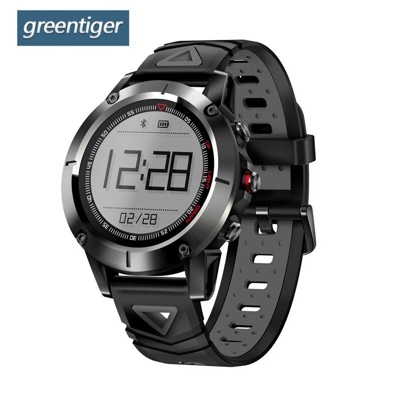 Greentiger G01 GPS Smart Watch Men IP68 Waterproof Blood Pressure Bluetooth Wristwatch Outdoor Sports Smartwatch for Android IOS