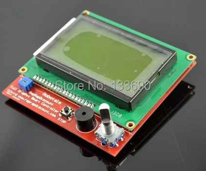 3D Printer Kit Smart Parts RAMPS 1.4 12864 Controller Control Panel LCD Display Monitor Motherboard Yellow green Module Hot Sale