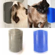 Pet Comb For Cat Accessories Groomer Brush Hair Remover Products For Cat Brush Massage Corner Wall Comb Catnip Plastic pet cat wall corner hair massager cat scratching itchy scratching cat cat comb massage corner brush comb