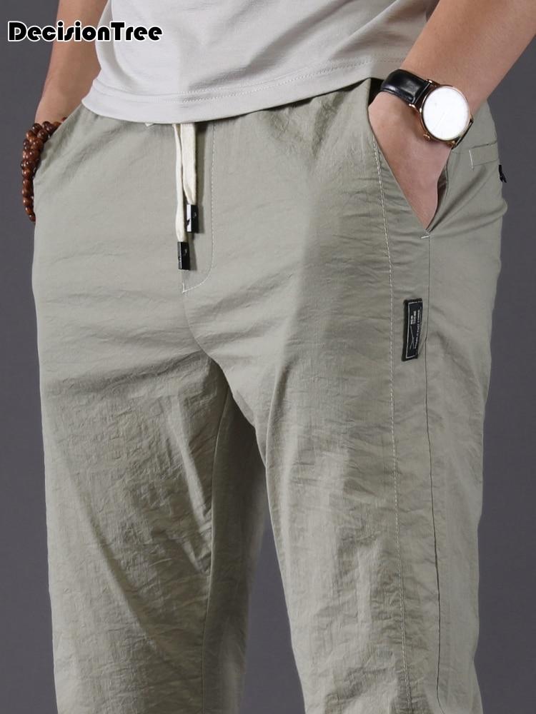 c7ff314f 2019 летние льняные Мужские штаны с микробом дышащие льняные брюки  повседневные Хлопковые Штаны для мальчиков
