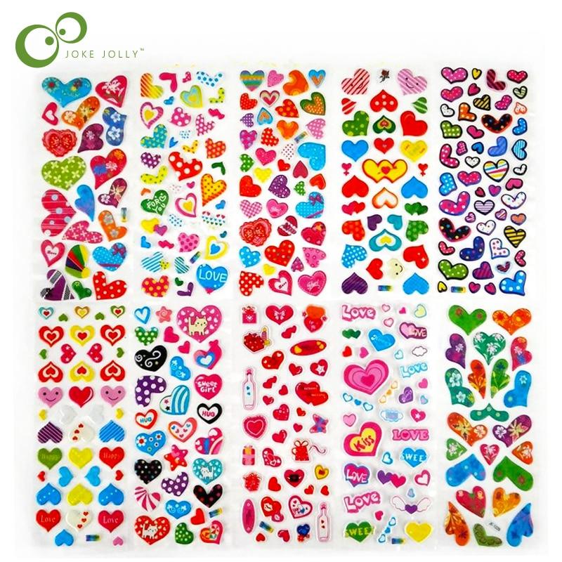 5Pcs DIY Lovely 3D Bubble Stickers Kawaii Cartoon Sticker Kids Gift  Wholesale