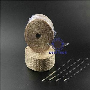 Image 2 - Бежевая выхлопная труба глушителя термостойкая выхлопная пленка 10 м x 2 дюйма с кабельные стяжки