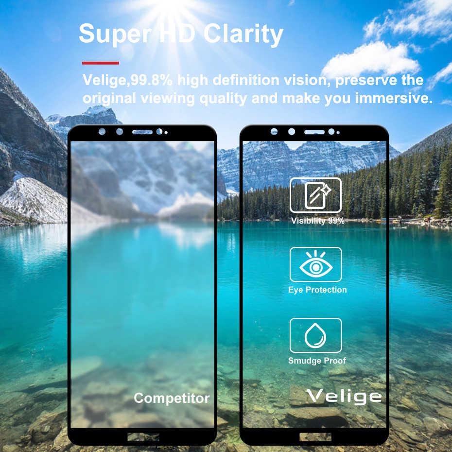 Velige полностью покрытое закаленное стекло 2,5 D для huawei Honor 9 Lite Honor9 Lite Экран протектор ультра тонкий безопасности Стекло фильм