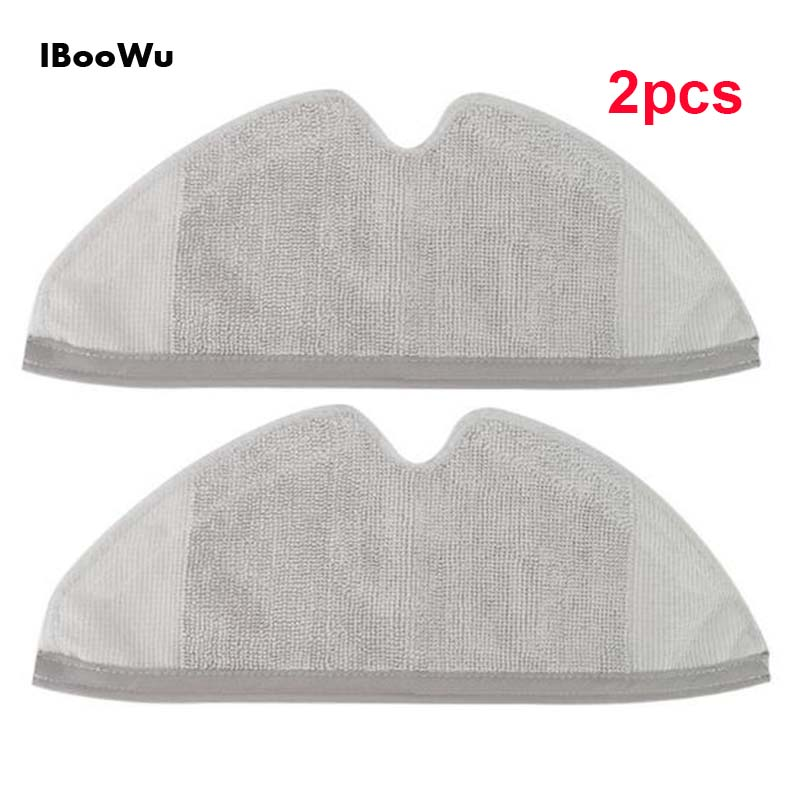 2pcs F  Xiaomi Roborock S50 S51 Parts Mop Cloths Cleaning For Xiaomi Roborock Sweeper Rag Wet Dry Mopping Cleaning Accessories
