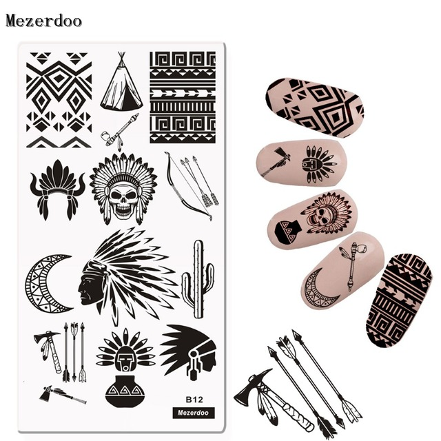 Indian style Nail Disk Nail Art image Plate Stamping Template ...