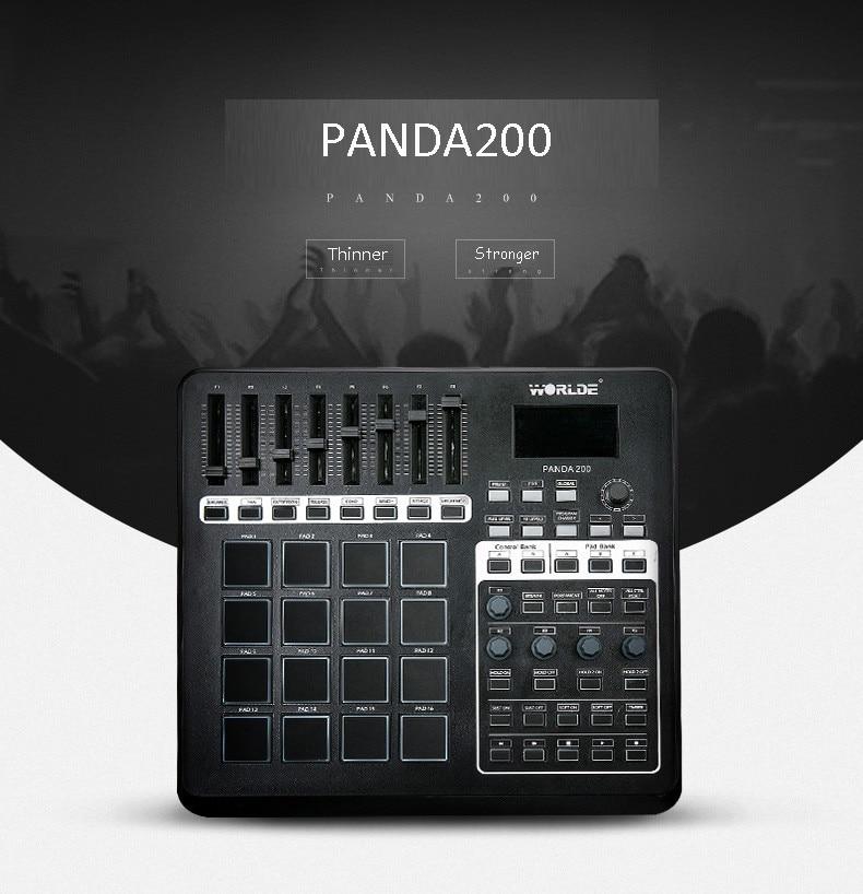 buy worlde panda200 professional usb 16 drum pads midi keyboard controller with. Black Bedroom Furniture Sets. Home Design Ideas
