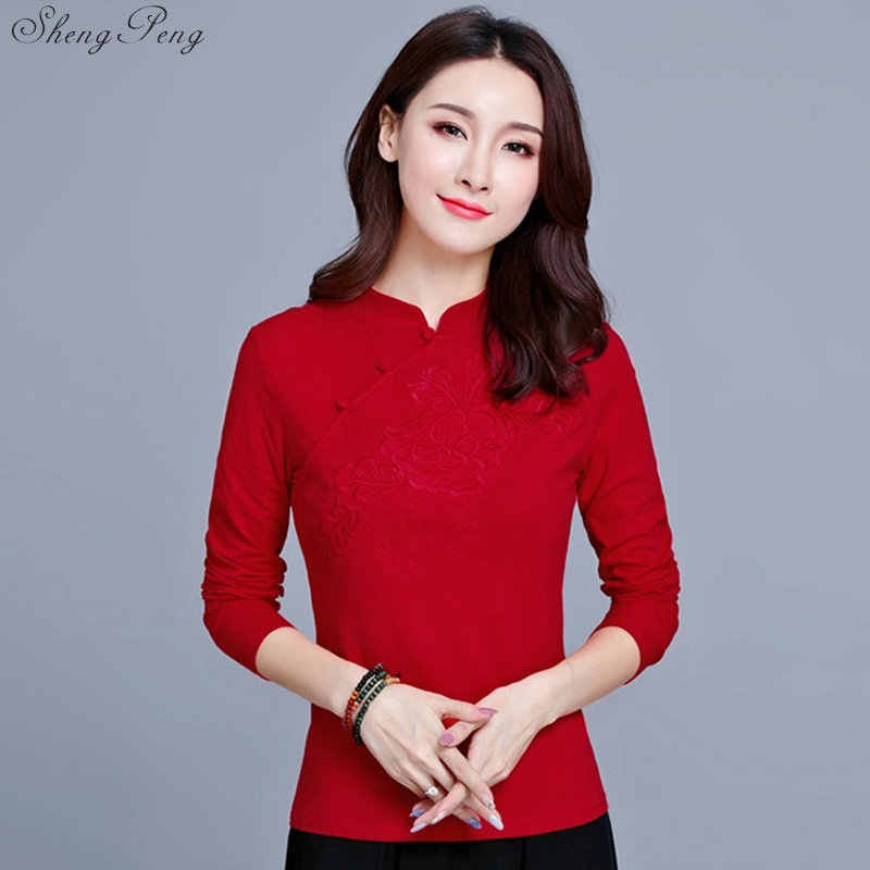 6dcff0fe1e0418 ... Traditional chinese clothing for women cheongsam top womens tops and  blouses elegant ladies retro style tops ...