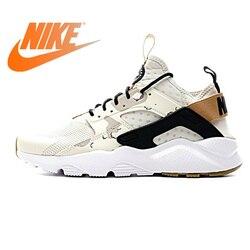 Original Authentic NIKE AIR HUARACHE RUN ULTRA Men's Running Shoes Sneakers Sport Outdoor Athletic Designer 2019 New 752038-991