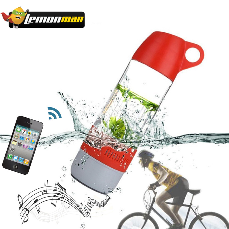Lemonman Wireless Speaker Compass Music-Player Water-Bottle Stereo Outdoor-Sound Mini