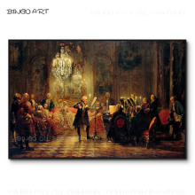 Excellent Artist Hand-painted High Quality Ballroom Concert Oil Painting on Canvas Luxury Classical Europe Concert Oil Painting j rive king paraphrase de concert on bizet s carmen
