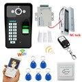 HD 720 P inalámbrico WIFI RFID contraseña Video puerta teléfono timbre sistema intercomunicador visión nocturna + cerradura de puerta magnética eléctrica 180 KG