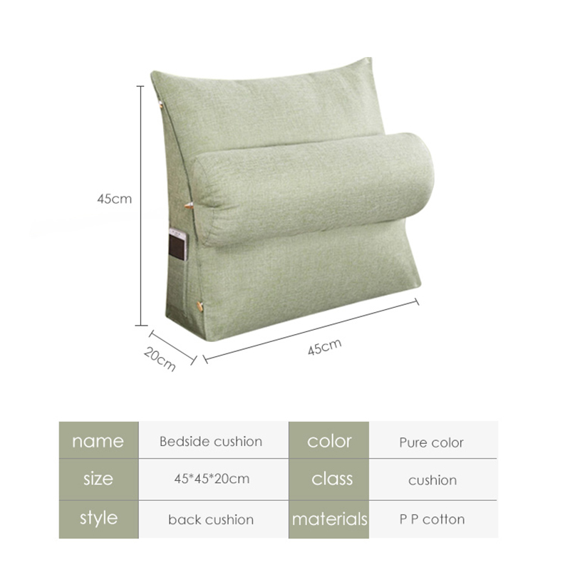 Bed Couch Backrest Cushion Washable Cotton Linen Sofa Cushions Sequin Living Room Pillows Chair Pad Sitting Pillow 60KD001 in Cushion from Home Garden