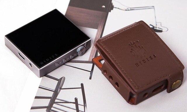 HIDIZS Funda de cuero y brazalete para AP80 (marrón)