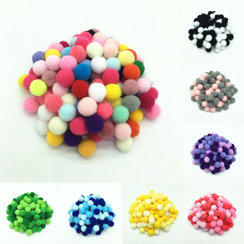500pcs 8mm Multi Mix Color Pompom Fur Craft DIY Soft Pom Poms For Kids Toys Wedding Decoration/Sewing On Cloth Accessories ...