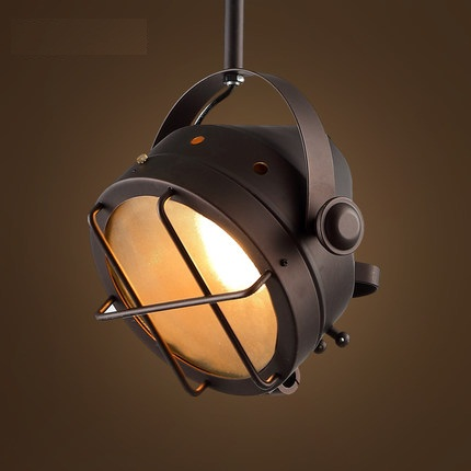 Retro Loft Style Iron Glass LED Pendant Light Fixtures For Dining Room Hanging Lamp Vintage Industrial Lighting Lamparas