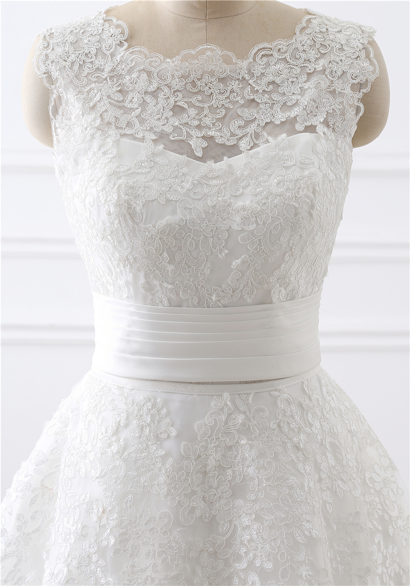 E JUE SHUNG Vintage Lace Appliques Detachable Skirt Wedding Dresses Two Pieces Wedding Gowns One in Two Dresses robe de soiree