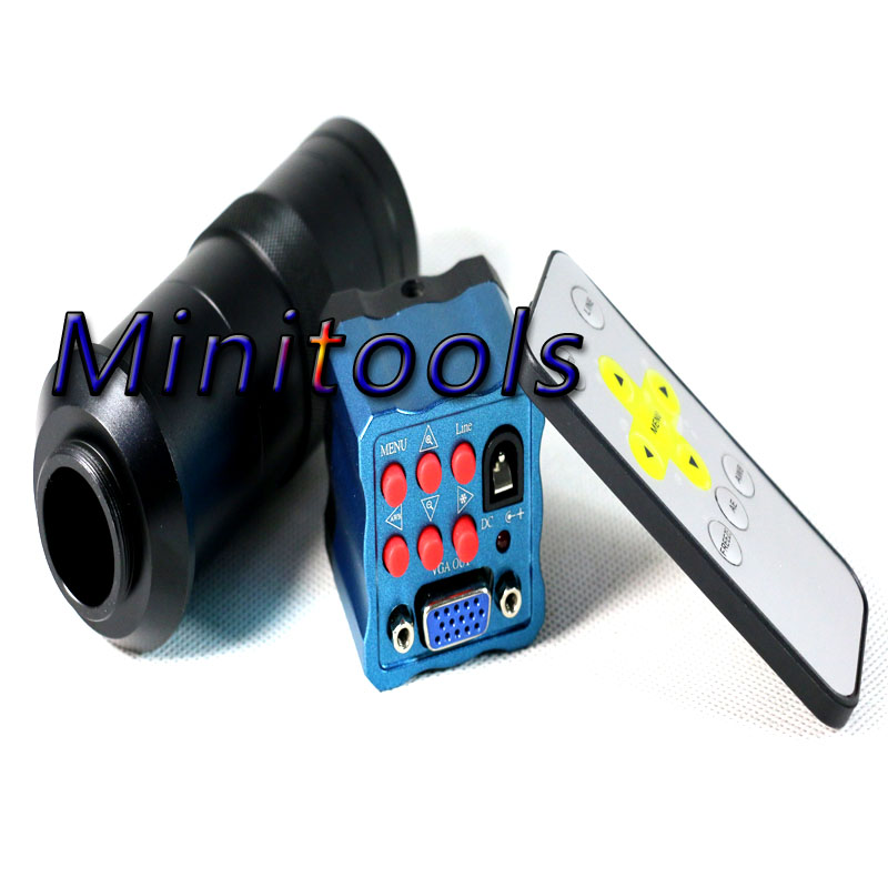 NEW Industry Microscope Camera 2MP HD VGA outputs 130X C-mount Lens for LAB PCB Mobile phone repair newest 2mp 1080p effective pixels vga outputs industry microscope camera with 8 130x c mount lens for lab pcb phone repair