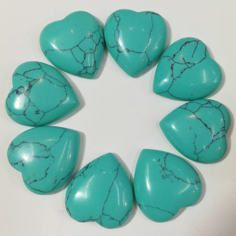 Fashion natural stone beads charm calaite heart shape cab cabochons for jewelry making 25mm wholesale 20pcs/lot free shipping