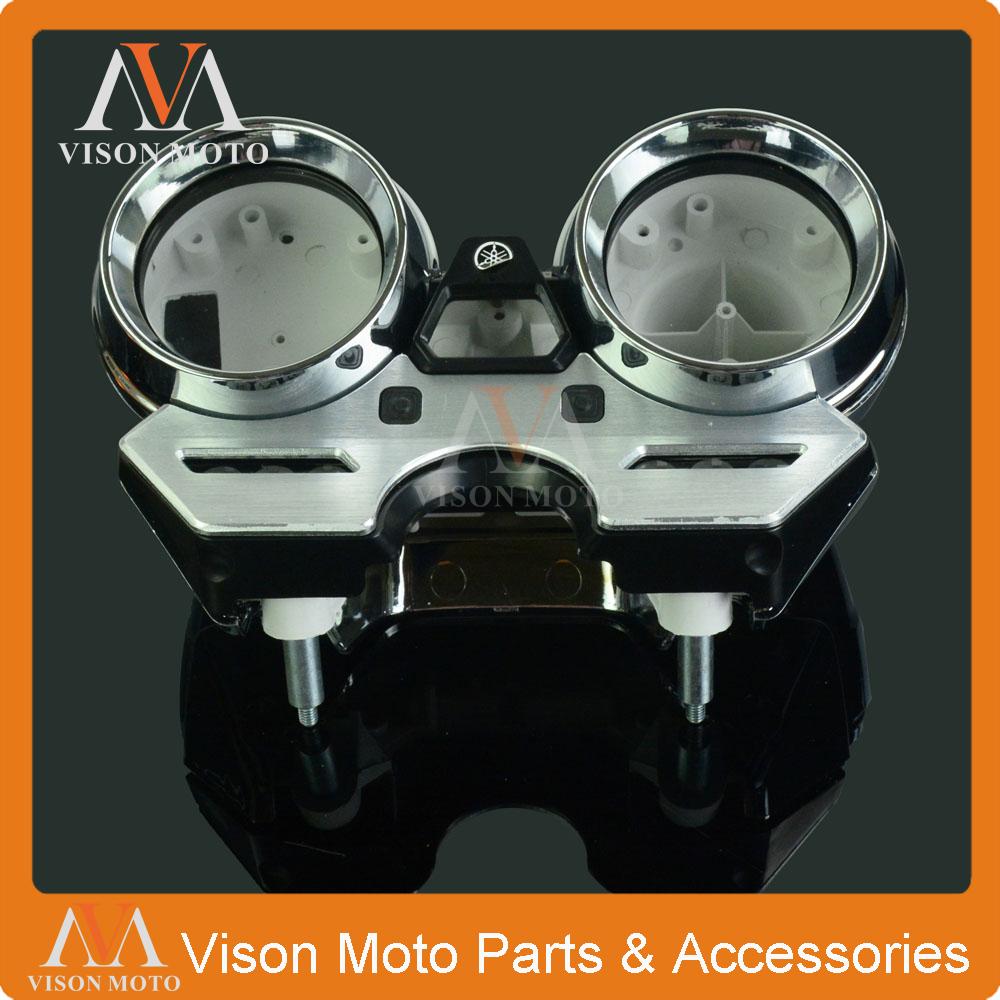 Speed Meter Clock Instrument Case Gauges Odometer Tachometer Housing Box Cover For YAMAHA XJR1300 2003 2004 2005 2006 2007 2008 new abs plastic speedometer gauges tachometer instrument cover case for yamaha yzf r1 2002 2003 r6 2003 2004 2005