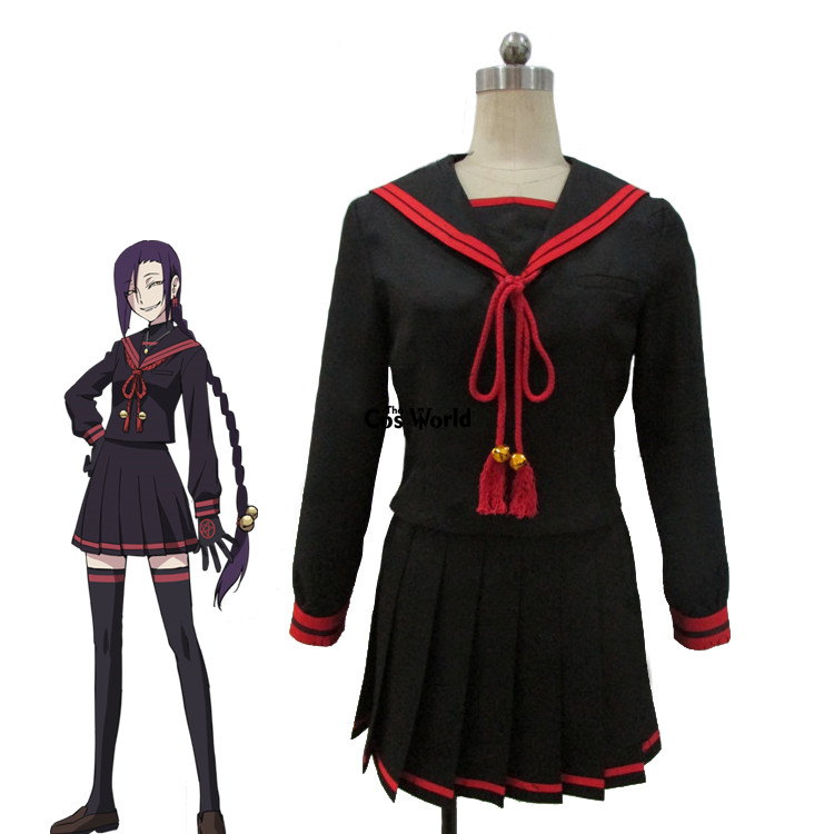 Re:CREATORS Chikujyouin Magane Sailor Suit School Uniform Long Sleeve Tops Skirt Outfit Anime Cosplay Costumes ...