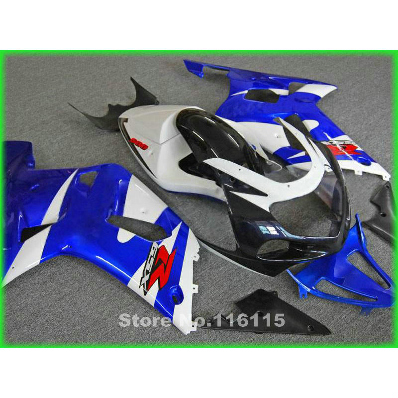 Fairing kit fit for SUZUKI GSXR600 GSXR750 2001 2002 2003 blue white fairings GSXR 600 750 K1 01 02 03 FF41