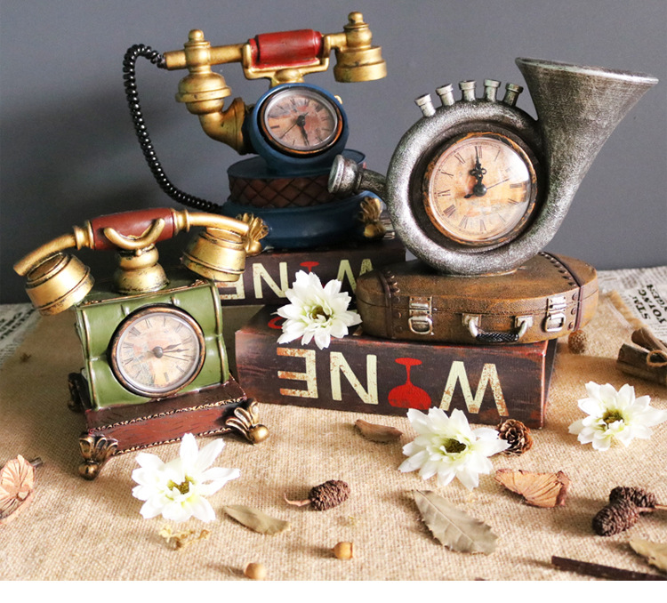 Europe type restoring ancient ways of creative telephone personality clock and watch the living room TV cabinet bar cafe decorat
