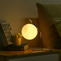 3D Printing Moon Night Lamp Desktop Light LED Table Lamp Modern Lampada Tavolo Led Lamp Table Light for Bedroom Study
