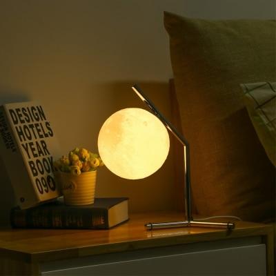 3D impression lune nuit lampe éclairage bureau LED lampe de Table moderne Lampada Tavolo lampe à LED lampe de Table pour étude de chambre